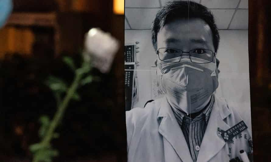 Li Wenliang, the late Wuhan doctor who tried to alert the authorities about the virus, has become a symbol of calls for freedom of speech in China.