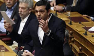 Alexis Tsipras makes his case to the Greek parliament on Friday