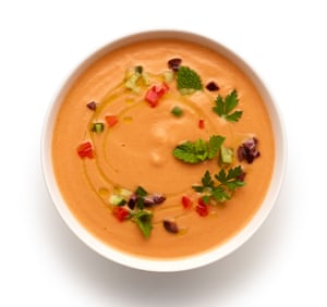 Serve chilled or at room temperature, but ingredients are paramount: Felicity Cloake's gazpacho soup.