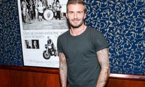David Beckham with plenty of tats