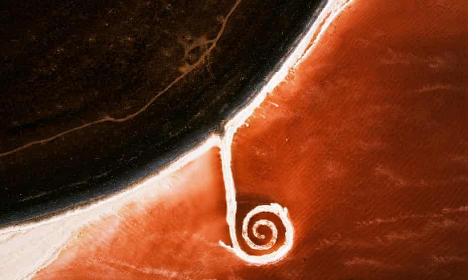 Robert Smithson's Spiral Jetty.
