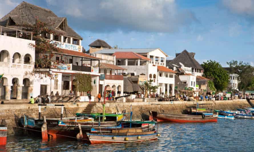 The seafront in Lamu, Kenya