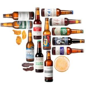 London beer bundle set of craft beers and snacks