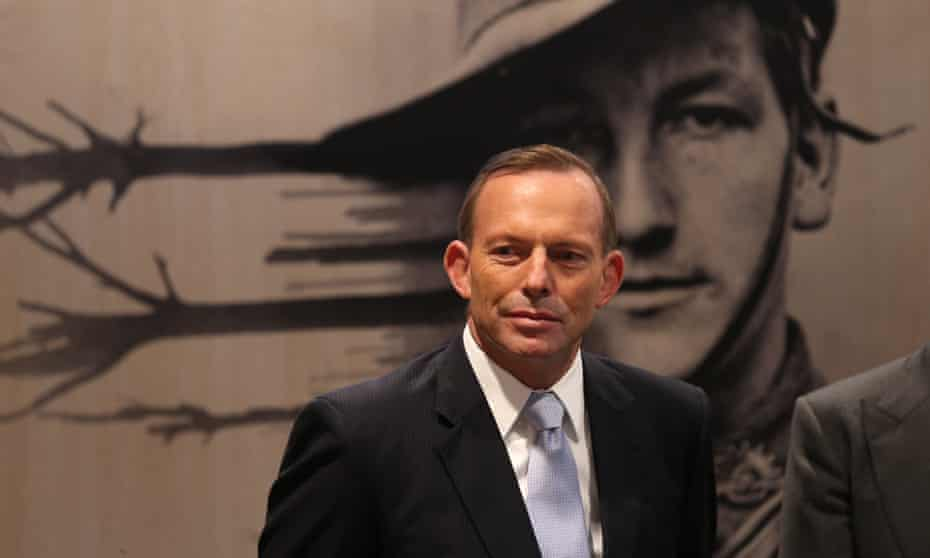The former prime minister, Tony Abbott, at the Australian War Memorial in Canberra. He has been appointed to its board.