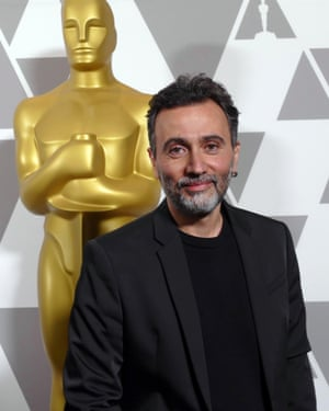 Talal Derki at the Oscars ceremony in Los Angeles, February 2019.