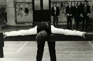 malcolm mcdowells character mick travis being caned in the 1968 film if