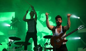 Jack Bevan and Yannis Philippakis of Foals.
