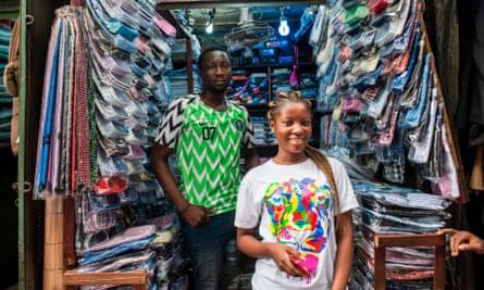 A shop in Balogun market, Lagos.