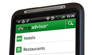 TripAdvisor app on a smartphone screen