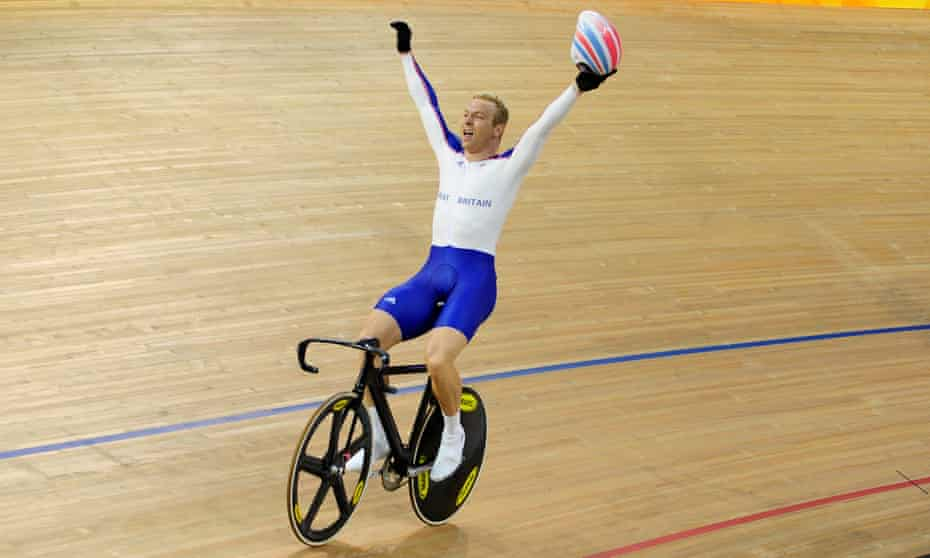 'You have it within you' … Chris Hoy after winning gold at the 2008 Beijing Olympics.