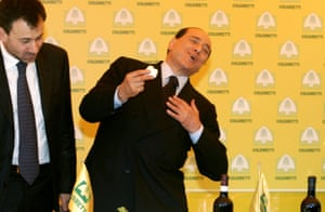 2008: Berlusconi feigns illness after tasting mozzarella after a dioxin-contamination scare during his campaign to regain office
