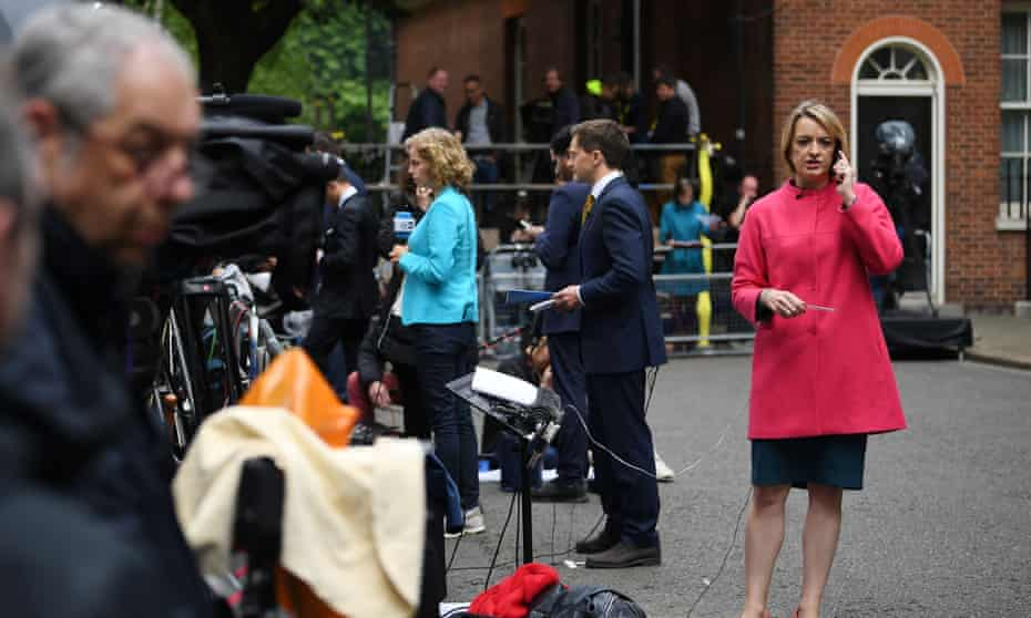 Kuenssberg outside 10 Downing Street after the general election in June