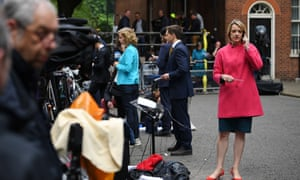 BBC political editor Laura Kuenssberg outside 10 Downing Street in London the day after the general election