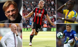 Jurgen Klopp is enjoying life, Ryan Fraser proves size does not matter, Wilfried Zaha is dodging tackles, Lucas Digne needs to prove his worth and Sean Dyche needs to turn things around.
