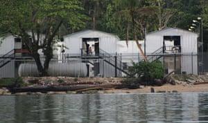 The Australian-run asylum seeker detention centre on Los Negros Island, Manus province, Papua New Guinea.