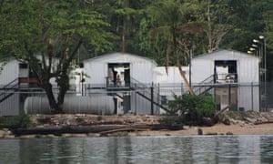 The Australian-run asylum seeker detention centre on Los Negros Island, in Manus province, Papua New Guinea