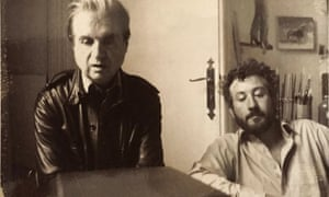 Francis Bacon, left, with Michael Peppiatt … 'They shared many spectacularly boozy meals.'