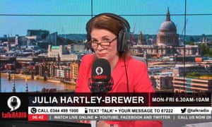 talkRadio host Julia Hartley-Brewer