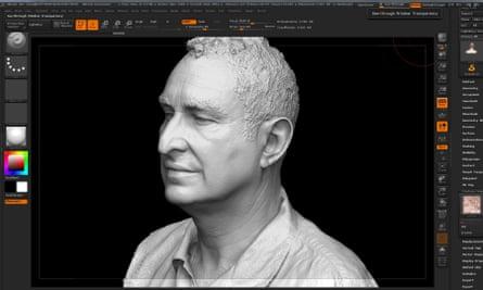 A 3D portrait at the Royal Academy.