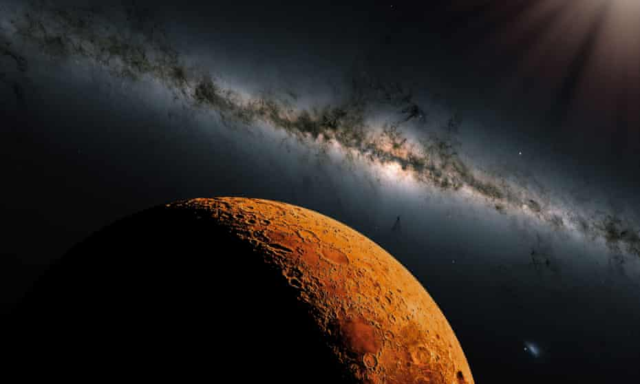 'You can't hunt for something if you have no idea what it is': An artist's impression of Mars.