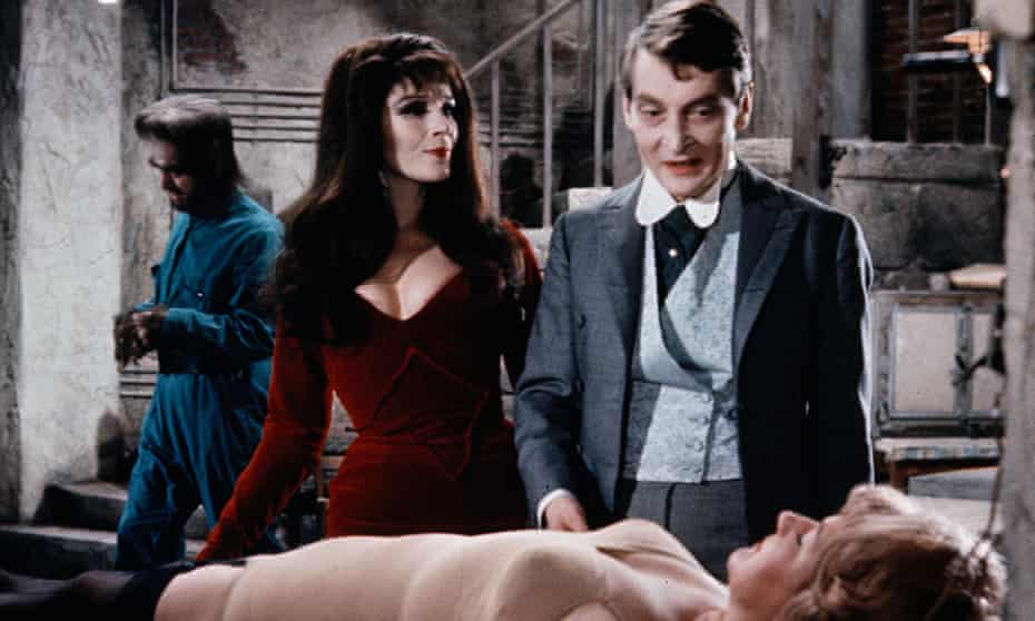 Fielding in Carry on Screaming! with Kenneth Williams and Joan Sims in 1966.