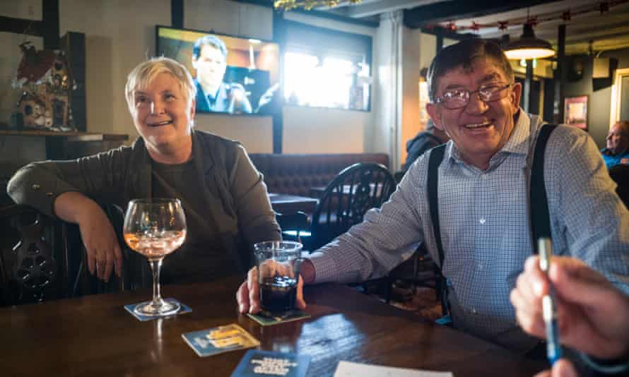 Susan and Kelvin Davies, managers of the Robert Burre pub