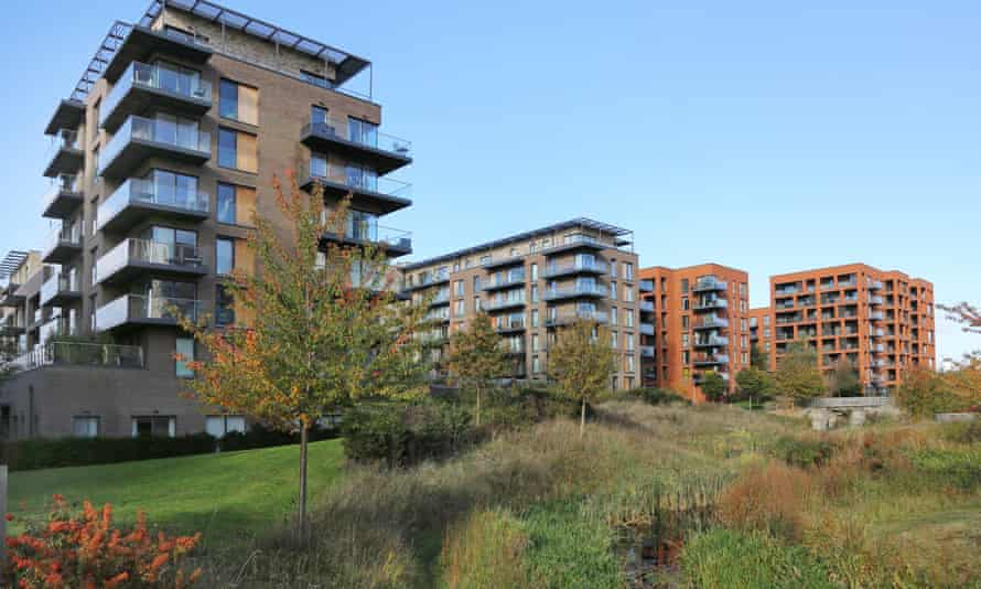 New apartment blocks overlook Cator Park at Kidbrooke Village, a huge new residential development in the London Borough of Greenwich.
