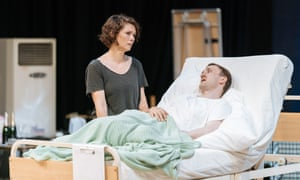 MyAnna Buring and Tom Brooke in rehearsal for A Very Expensive Poison.