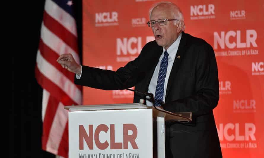 Bernie Sanders addresses the National Council of La Raza in Kansas City