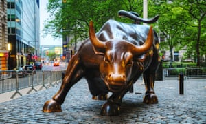 Charging Bull sculpture in New York City.