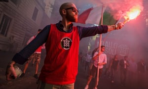 A CasaPound demonstration  in Rome