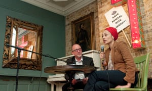 Author Zadie Smith speaks at Kensal Rise library, north London, before it closed in 2011.
