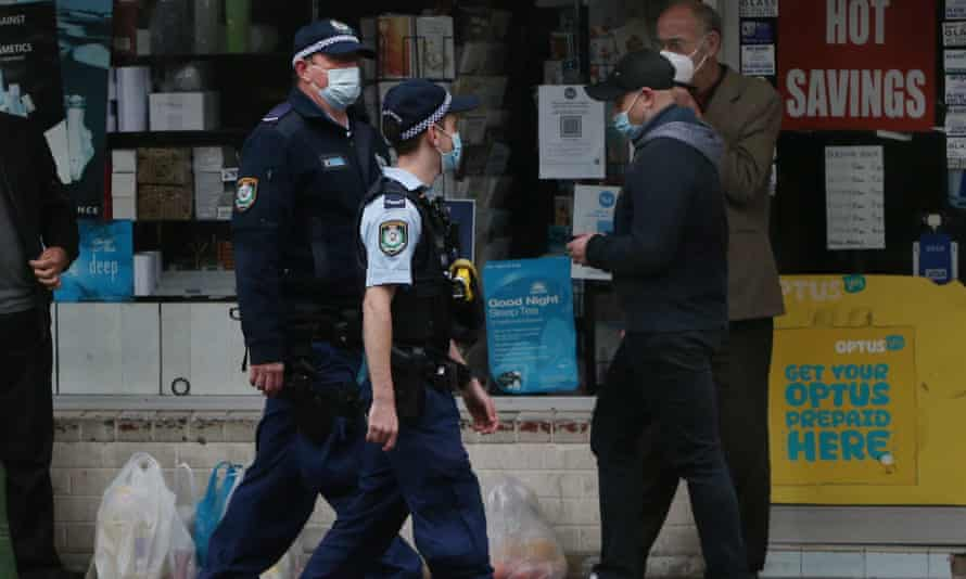 Police officers in Sydney
