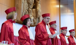 Members of Germany's constitutional court give their ruling in Karlsruhe.