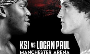 A poster for the fight between KSI and Logan Paul
