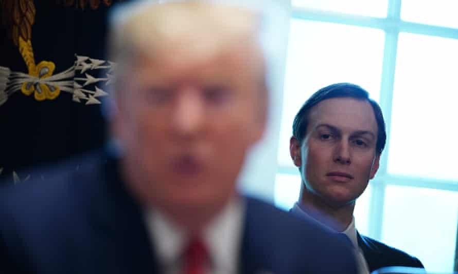 Jared Kushner listens in the cabinet room of the White House, in November 2019.