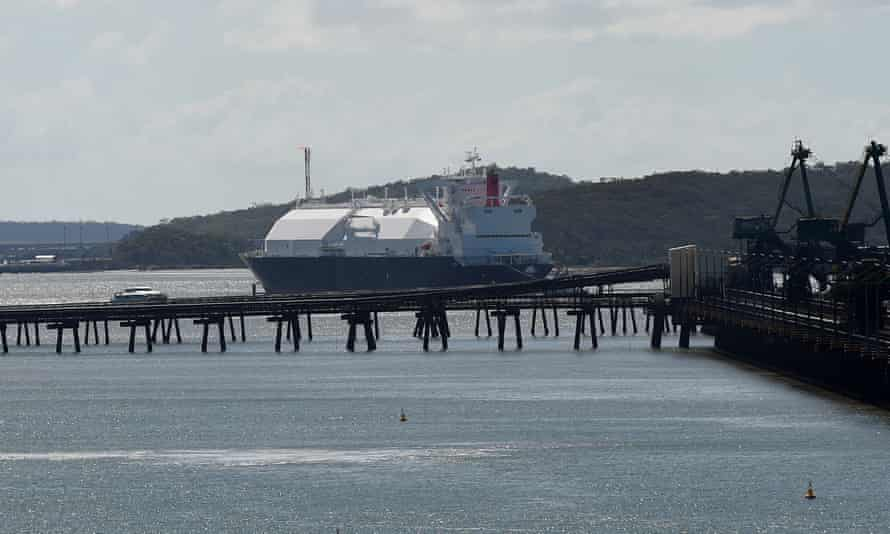 LNG tanker at Gladstone Port