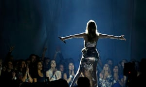 Celine Dion performs The Show Must Go On