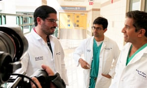 Dr. Juanmarco Gutierrez, Dr. Kumar Vasudevan and Dr. Sanjay Gupta in One Nation Under Stress