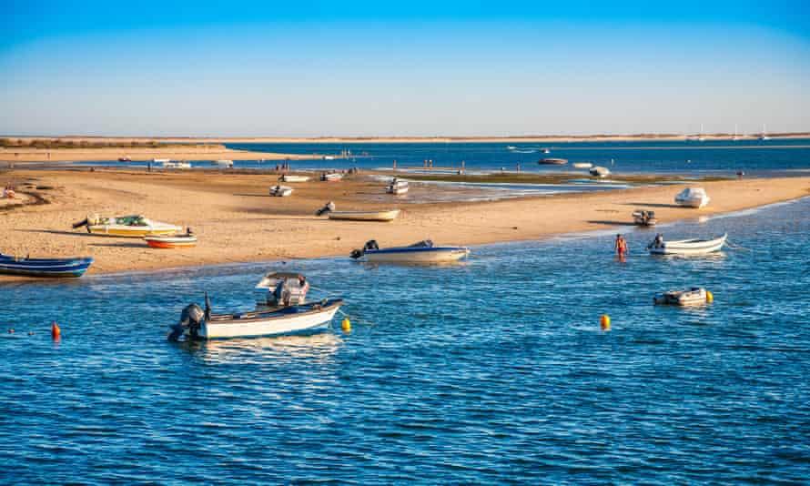 Armona Island in the Ria Formosa natural park on the Algarve, Portugal.