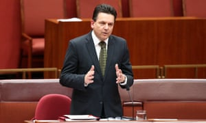 South Australian Independent Nick Xenophon in the senate chamber of Parliament House, Canberra this morning, Tuesday 8th September 2015.