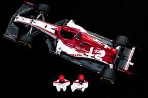 The Alfa Romeo Racing C39 seen at its launch