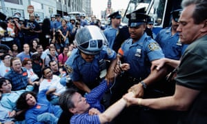 Police Officers Removing Abortion Rights Demonstrators