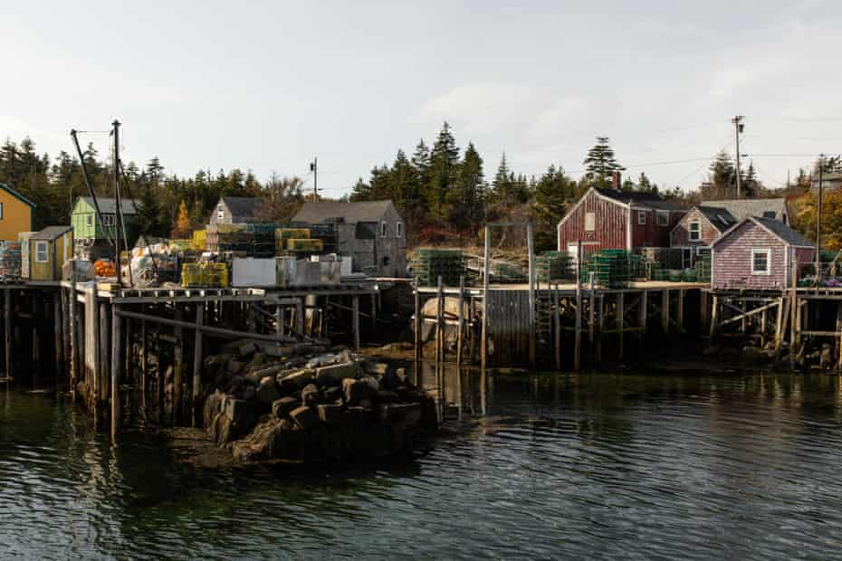 The working wharf of Matinicus. Most of the islands economic activity is centered around lobster fishing.