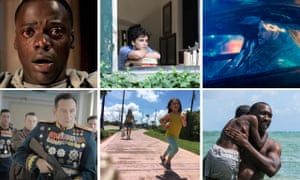 Braddie nominees Get Out, Call Me By Your Name, Blade Runner 2049, The Death of Stalin, The Florida Project and Moonlight