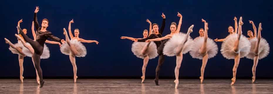 A scene from Symphony In C from The Triple Bill by The Royal Ballet