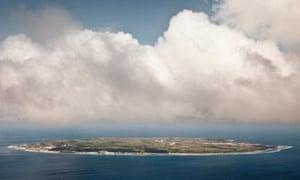 Nauru from the air.