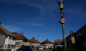 The historic lamp-posts on Beckington Road in south Bristol.
