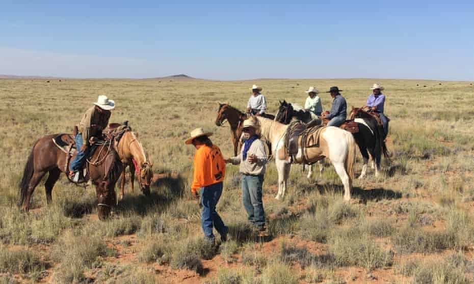 Members of the Intertribal Agriculture Council gather at the organization's 2019 Instinctive Migratory Grazing school held on Hopi land in Arizona.