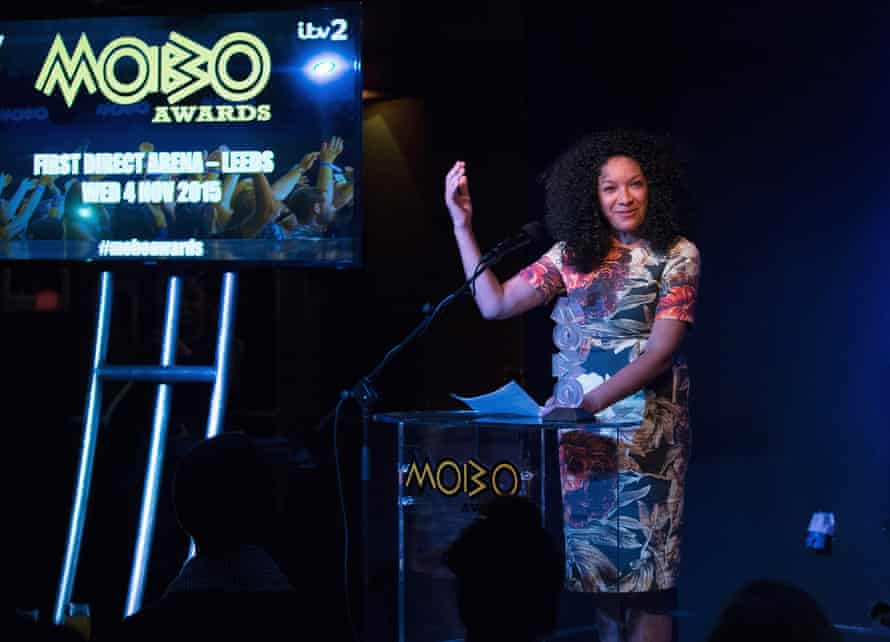 King hosting the Mobo nominations in 2015.